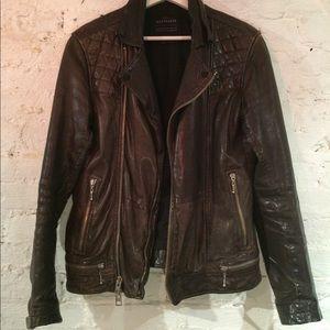 Allsaints Men's Leather Biker Jacket